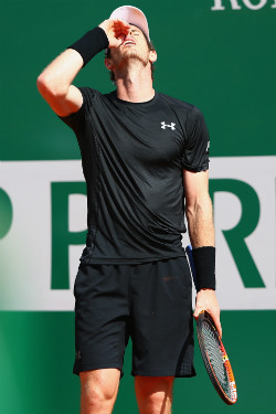 Murray was frustrated throughout his clash with Nadal. Photo: Getty