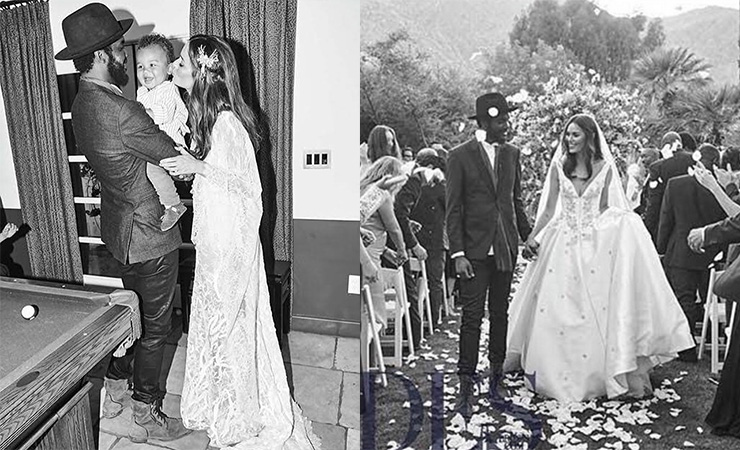 Trunfio celebrates her nuptials with her husband and their son, Zion. Photo: Facebook