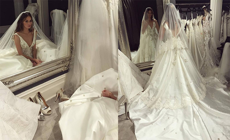 38509d2607d2 Trunfio in final fittings for her Steven Khalil gown. Photo: Facebook