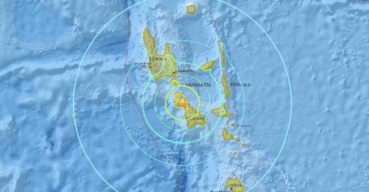Quake on Vanuatu's Malekula