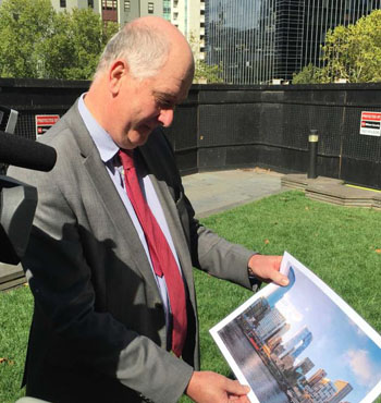Planning Minister Richard Wynne says the building will become a city landmark.