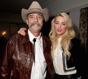 Amber Heard and her father, David, whom she remains very close to. Photo: Getty