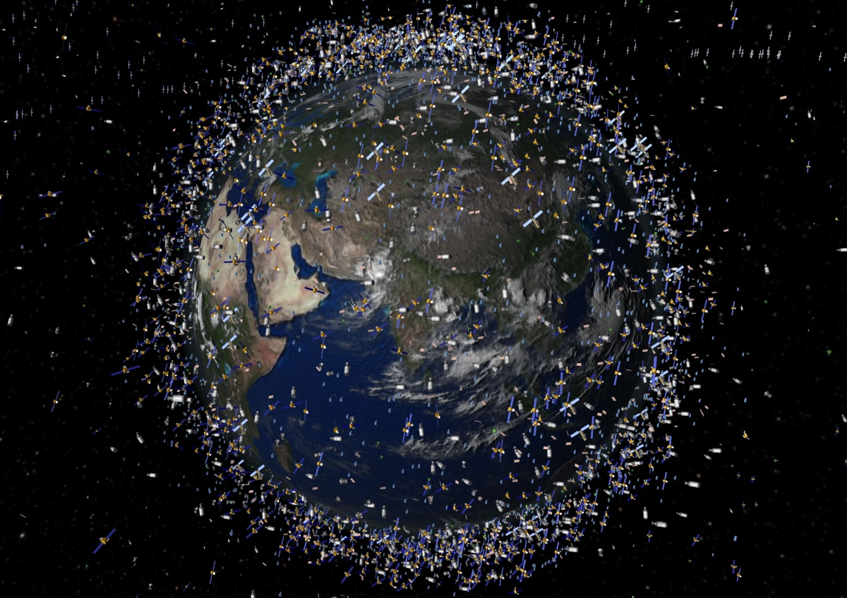 'Space junk' collision a threat for satellites