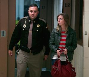 Barbra arrives at Clark County jail. Photo: A&E Network