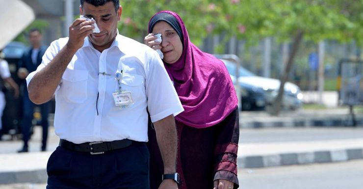 Relatives of passengers onboard missing EgyptAir flight MS804 at Cairo Airport.
