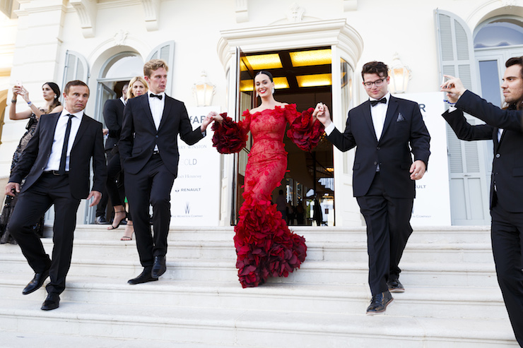 Ladies in red dominate Cannes red carpet