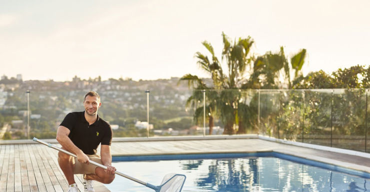 ian thorpe pool cleaning