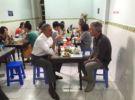 President Obama with celebrity chef Anthony Bourdain.