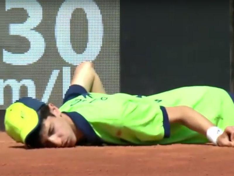 ballboy collapse rome open