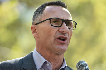 The Greens leader was accused of not declaring a property. Photo: Getty