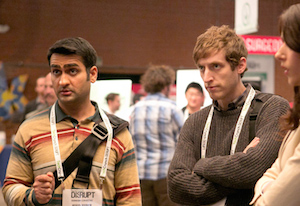 Actors Kumail Nanjiani (left) and Thomas Middleditch. Photo: HBO