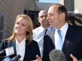 FFormer PM Tony Abbott and Lindsay MP Fiona Scott. Photo: AAP.