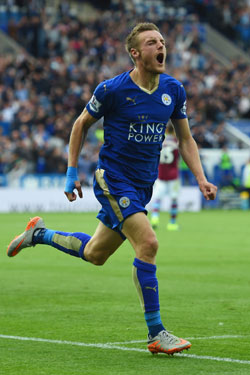 Want to watch more Jamie Vardy goals? You might need a VPN. Photo: Getty