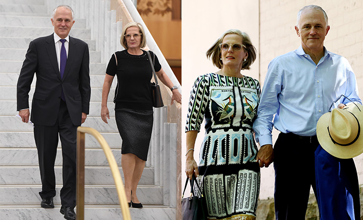 Lucy and Malcolm Turnbull are comfortable and professional - what else do you need? Photos: AAP