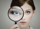 magnifying glass, girl
