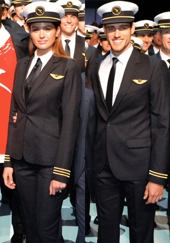 male female qantas pilot uniforms