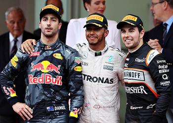 Daniel Ricciardo (left) gets jibbed again.