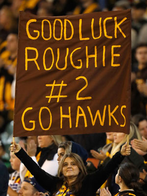Fans have showed their support for Roughead. Photo: Getty