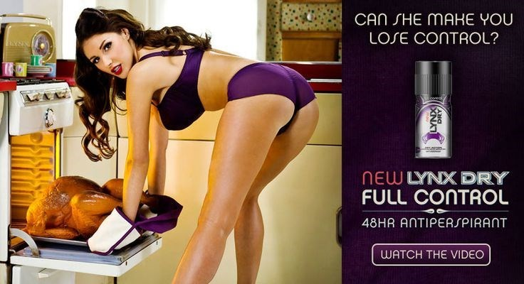 Sexist ads like this were a regular from Unilever brand, Lynx. Photo ... Neanderthal 1