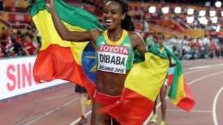 World 1500m champion Genzebe Dibaba.