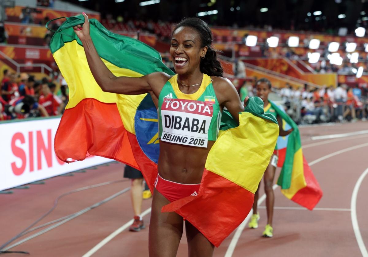 World 1500m champion Genzebe Dibaba.