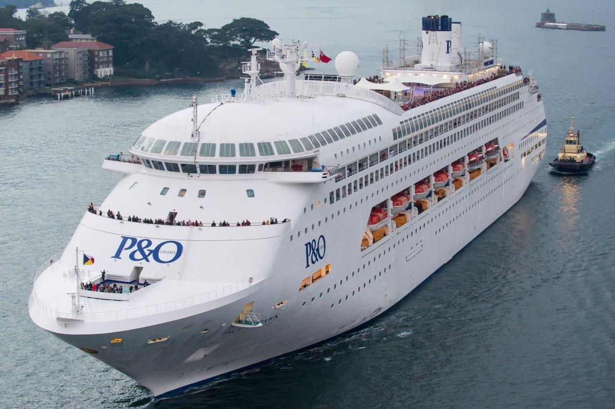 P&O Cruises vessel The Pacific Dawn.