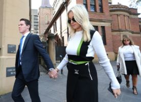 Curtis's wife Roxy Jacenko has supported him throughout. Photo: AAP