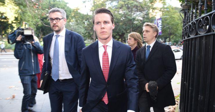 Oliver Curtis leaves Sydney's Supreme Court.