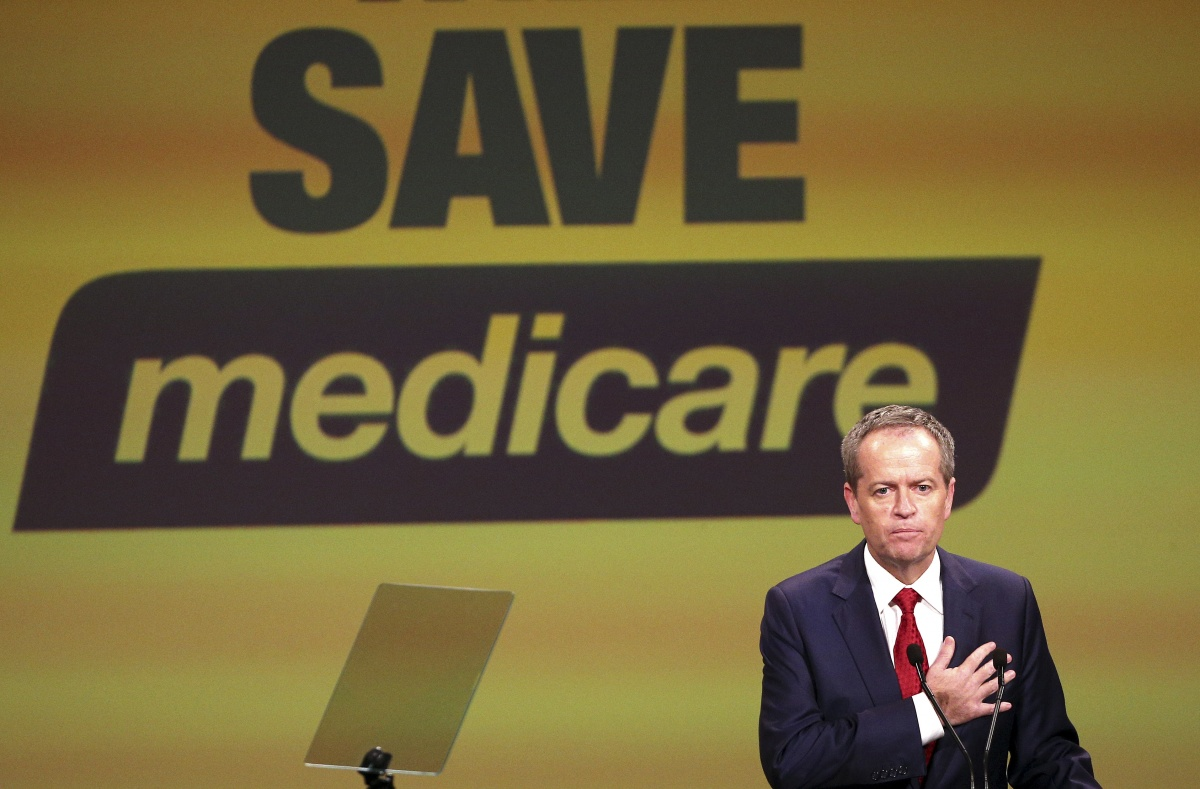 Opposition Leader Bill Shorten has made Medicare central to the ALP's election campaign. Photo: AAP