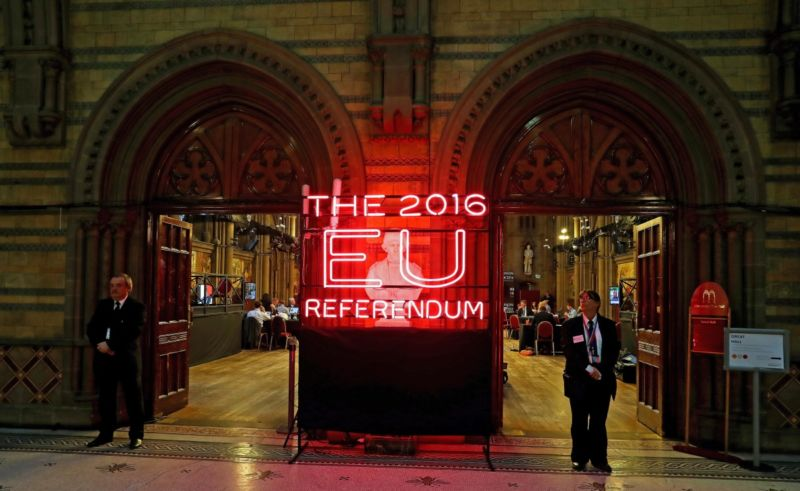 Exterior view of Manchester Town Hall, the setting for the national count in the EU referendum. Photo: AAP