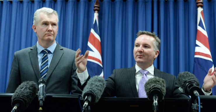 Chris Bowen and Tony Burke release Labor's final costings