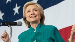 HIllary Clinton becomes the first female presidential candidate.