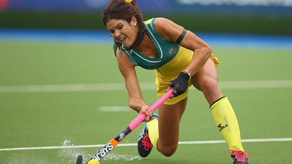 Hockeyroo Anna Flanagan involved in team