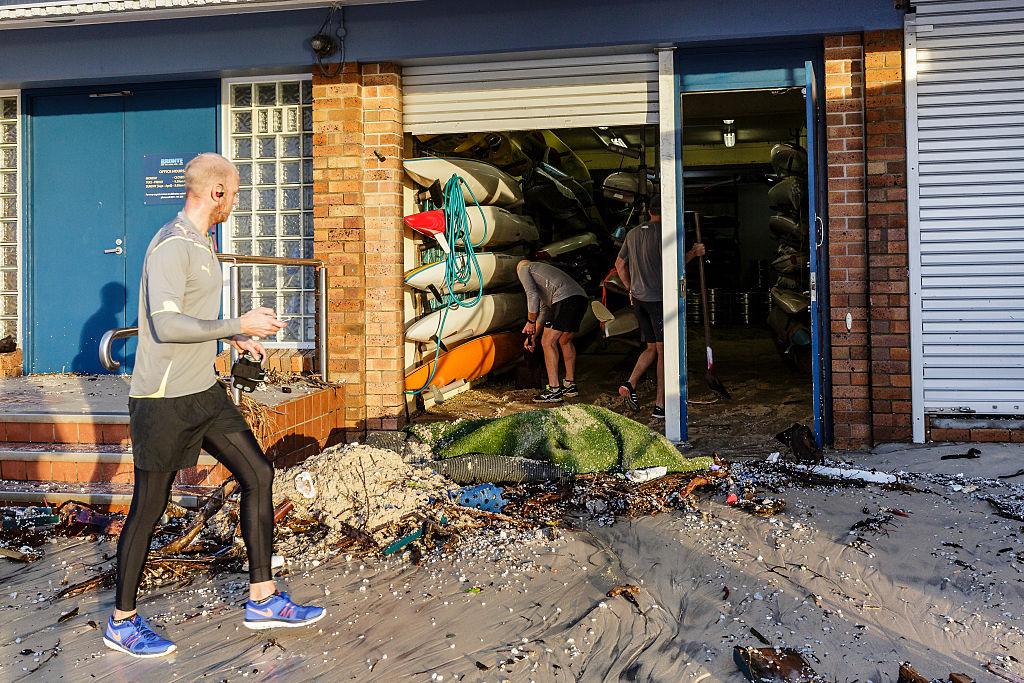 Damage to the Bronte Surf Life Saving Club.