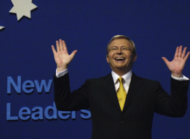 'Fiscal conservative' Kevin Rudd in 2007. Photo: AAP