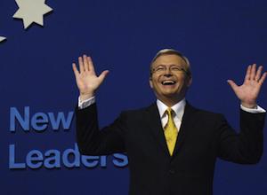 Kevin Rudd has been slammed by Kristina Keneally. Photo: AAP