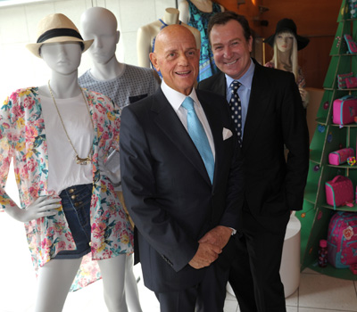 Mr MciInes (right) teamed up with Solomon Lew. Photo:AAP