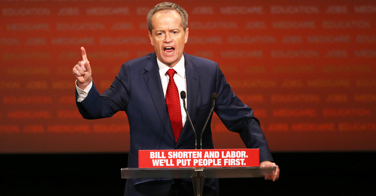 The Labor leader went hard on Medicare at Sunday's launch. Photo: AAP.