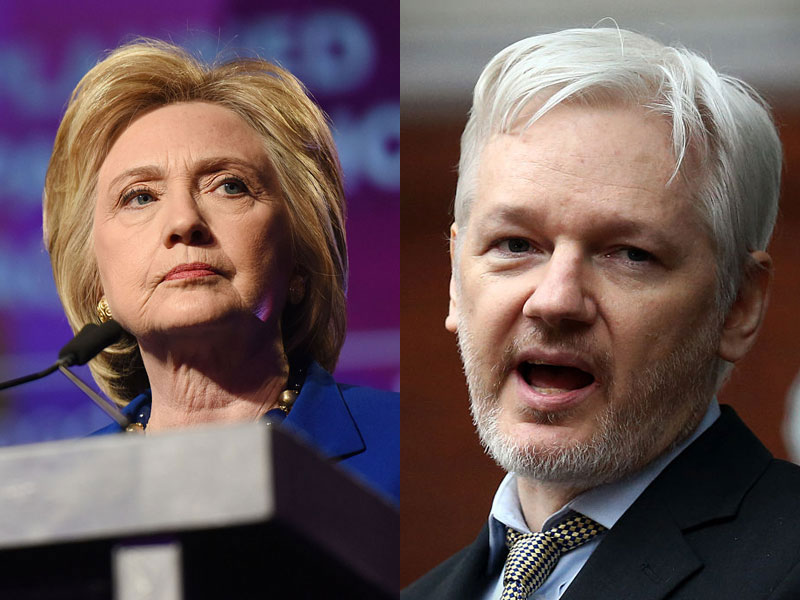 clinton and assange