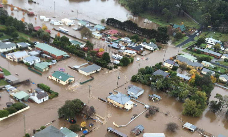 Latrobe in Tasmania's north which was flooded in last month's floods. Photo: ABC News