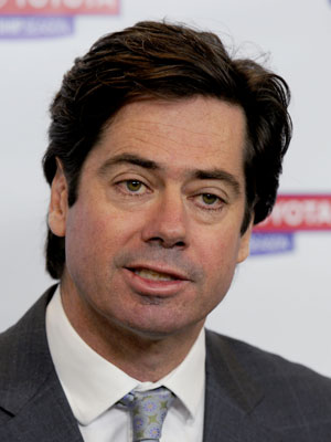AFL boss Gillon McLachlan was unhappy with McGuire. Photo: Getty