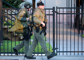 Authorities are treating the shooting as an act of domestic terrorism. Photo: AP