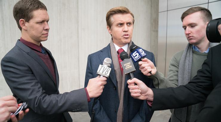Dan Wyllie playsDefence Minister Mal Paxton. Photo: Foxtel