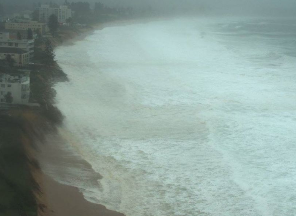 Collaroy Beach and homes along its coast were spectacularly inundated by the tide and its waves. Photo: UNSW