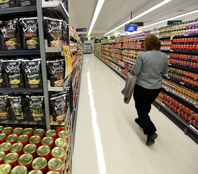 Finding the orange tags can be difficult in Woolies. Photo:AAP