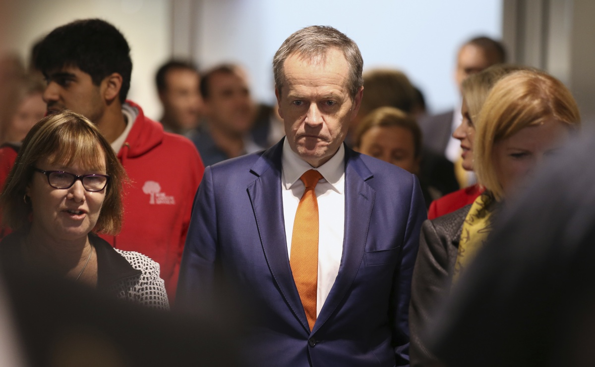Labor Party leader Bill Shorten campaigning on the eve of the election.