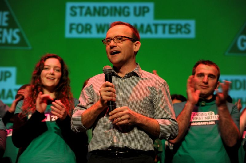 Greens MP Adam Bandt declares victory in the seat of Melbourne. Photo: AAP