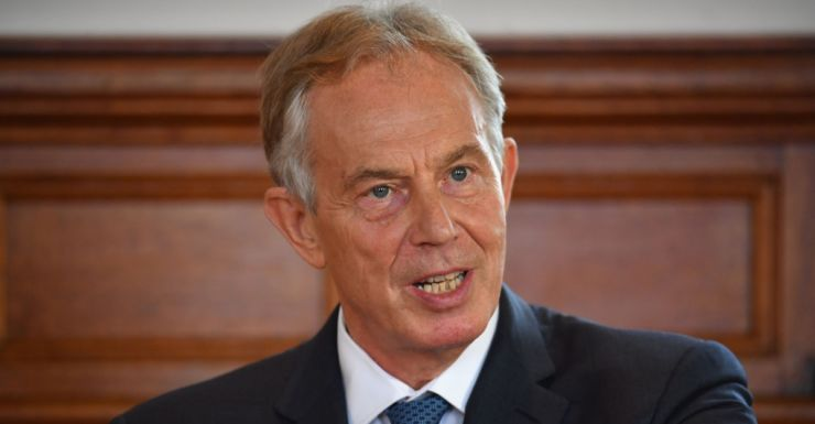 """Tony Blair who has said Britain should keep its """"options open"""" over leaving the EU."""