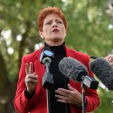 Pauline Hanson cops spray