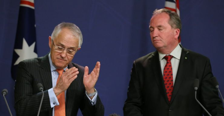 Prime Minister Malcolm Turnbull with deputy Barnaby Joyce.